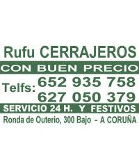 Cerrajeros 24h en Coruña Rufu Cerrajeros