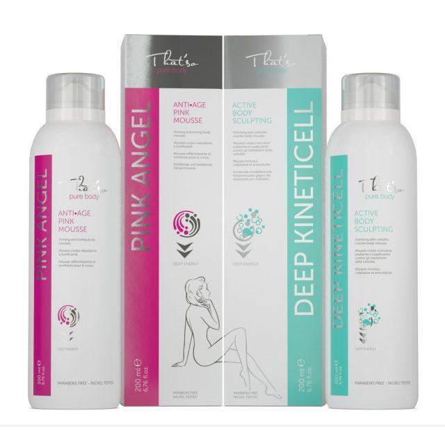 PINK ANGEL + DEEP KINETICELL: productos que moldean tu cuerpo rejuveneciendo la piel