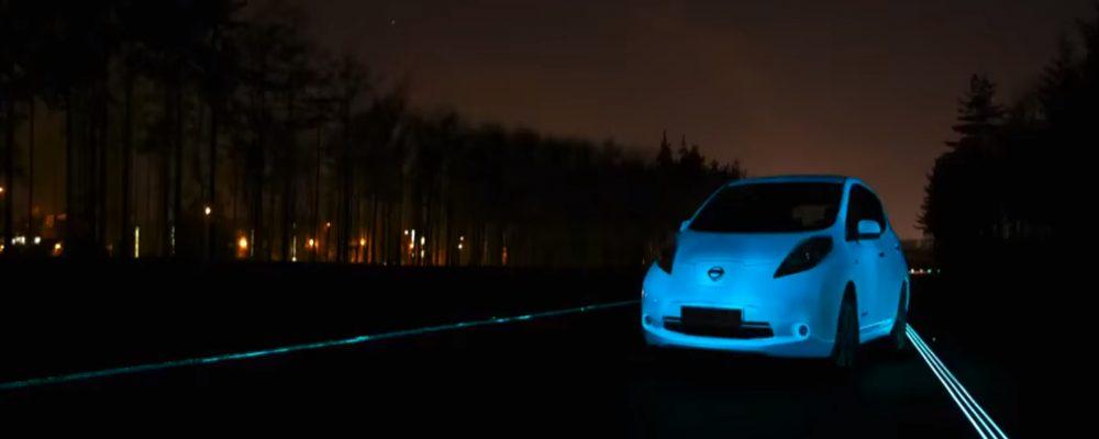 El coche que brilla en la oscuridad