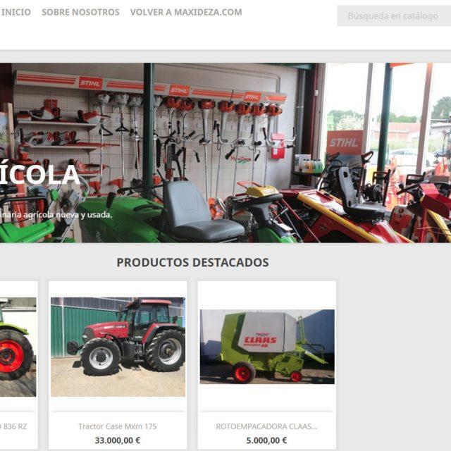 Venta de maquinaria agrícola, forestal y jardinería de ocasión