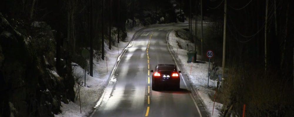 En Noruega estrenan farolas que se encienden cuando detectan un coche
