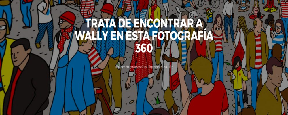 Trata de encontrar a Wally en esta fotografía 360