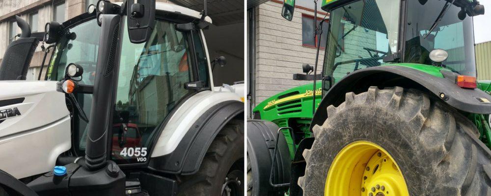 Para las cabinas de los tractores también vidrio laminado