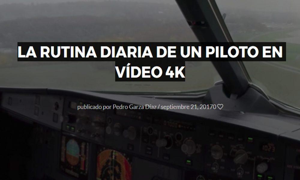 la rutina diaria de un piloto en vídeo 4k