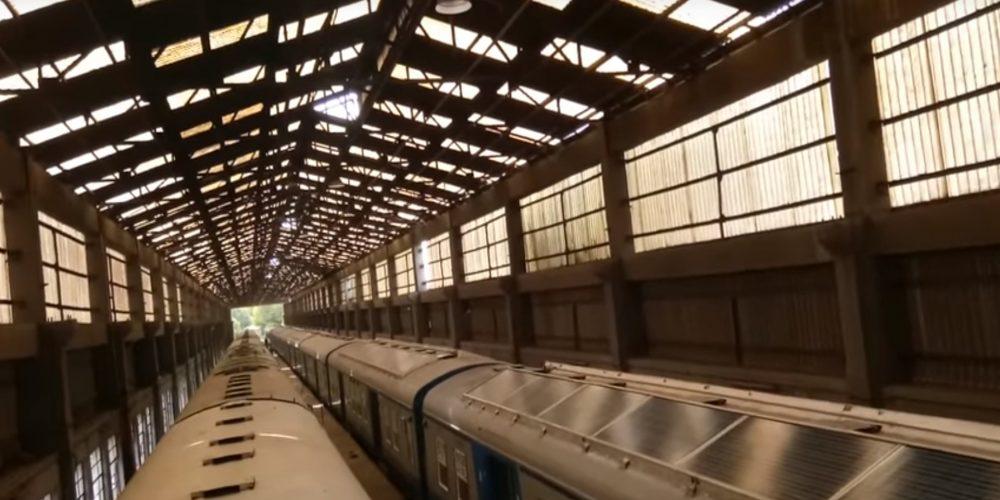 En la India ya hay trenes con paneles solares