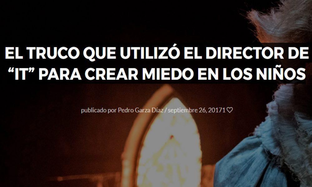 EL TRUCO QUE UTILIZÓ EL DIRECTOR de IT