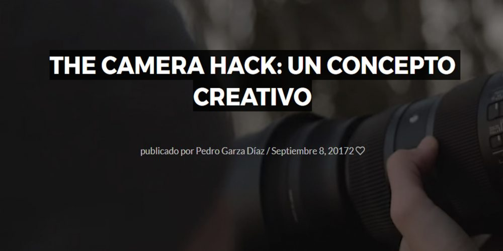 The Camera Hack: Un concepto creativo