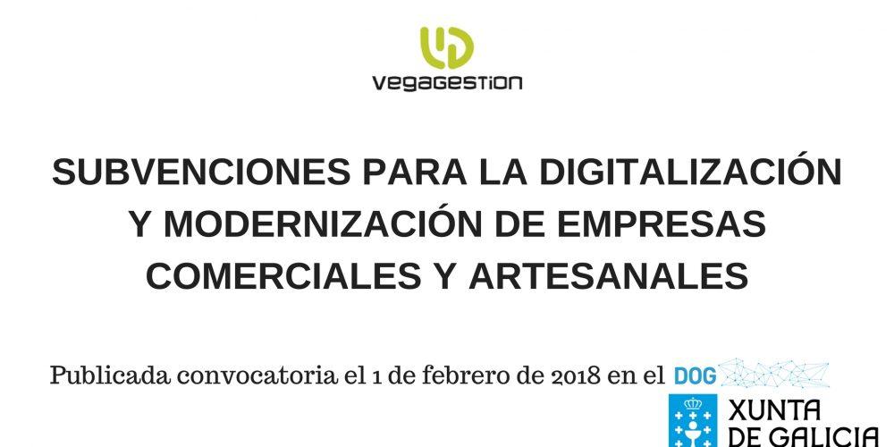 Ayudas para la digitalización y modernización de empresas comerciales y artesanales de Galicia