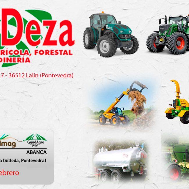 Maxideza estará en la feria Abanca-Cimag-GandAgro que se celebra del 21 al 23 de febrero en Silleda