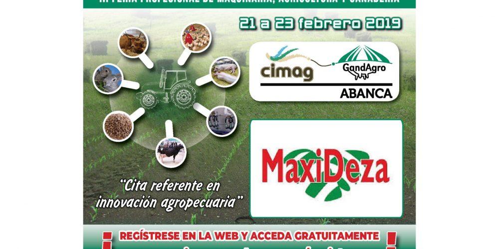 Maxideza te invita a la feria Abanca Cimag-GandAgro que se celebra en Silleda del 21 al 23 de febrero
