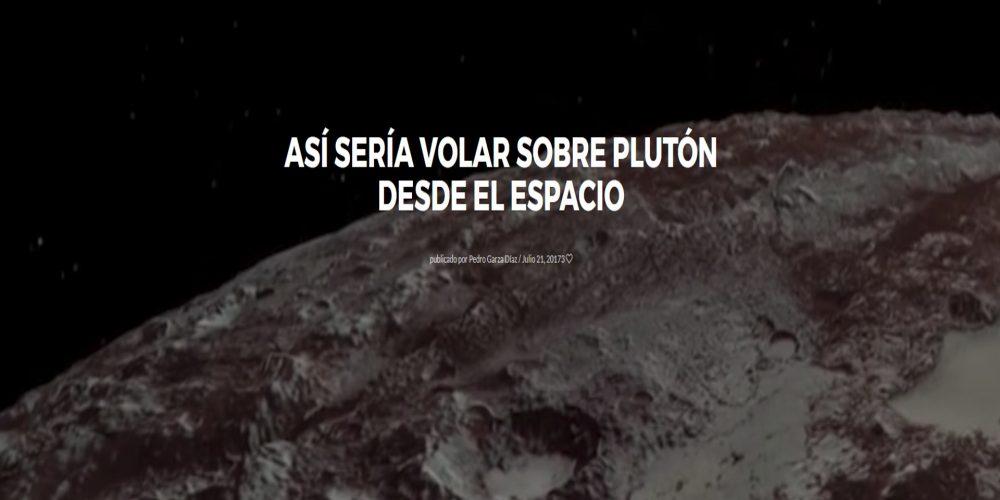 Así sería volar sobre Plutón desde el espacio