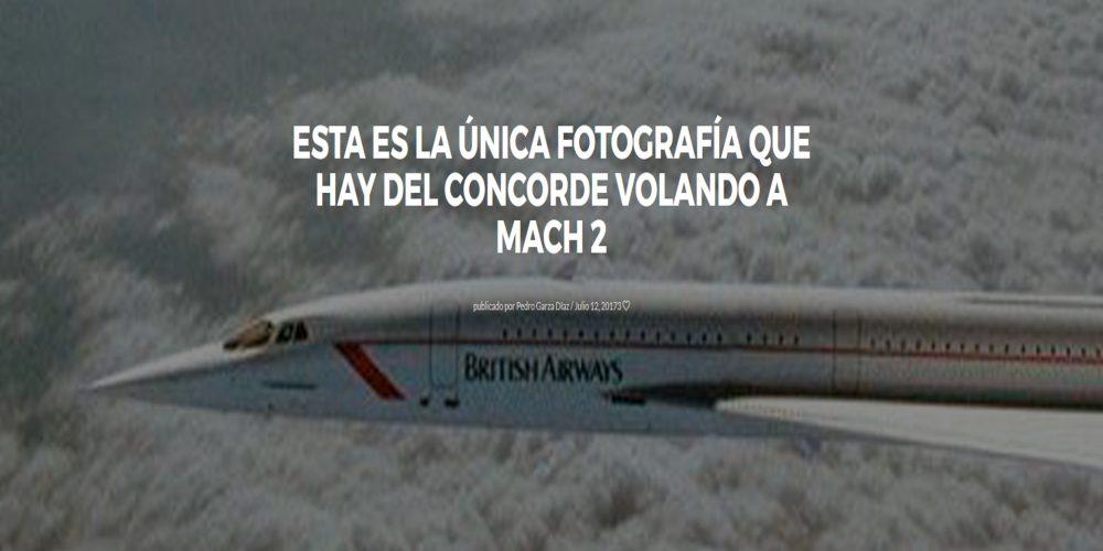 Esta es la única fotografía que hay del Concorde volando a Mach 2