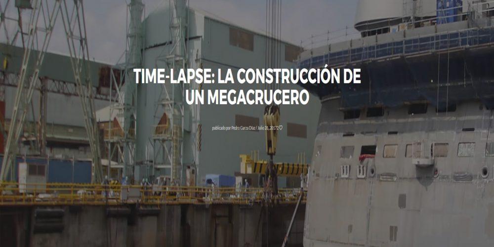 Time-lapse: La construcción de un megacrucero